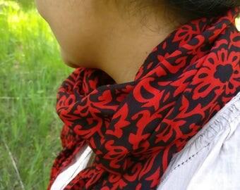 Beautiful chiffon silk scarf,neck scarf