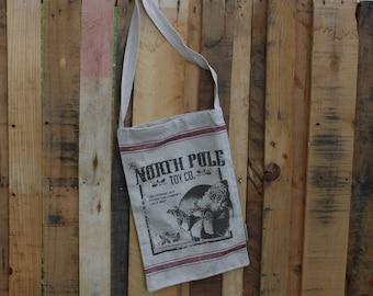 Farmhouse Christmas Decor- North Pole Toy Bag