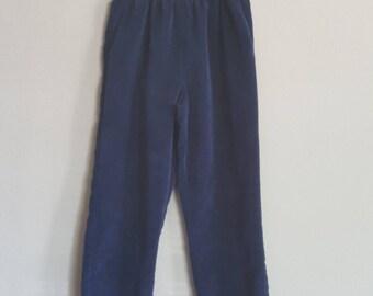 Size 14 Navy Blue Corduroy Elastic Pants