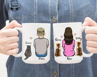 Personalized Cat Mug, Cat Mug, Custom Cat Mom, Cat Lover Gift, Gift For Cat Mom, Gift For Cat Dad