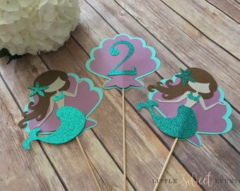 Mermaid Centerpiece, Mermaid Birthday, Under the Sea Centerpiece, Mermaid Party Decor, Under the Sea Party Supplies