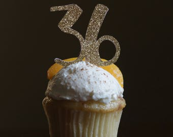 Cupcake Topper - Number Cake Topper - Birthday Cake Topper
