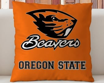 Oregon Beavers Pillow, Oregon State University  Pillow, OSU Dorm Decor, Gift for Oregon State Students, Beavers Dorm Decor.