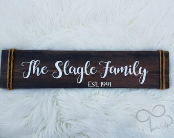 Family Established Home Decor Wrapped With Twine