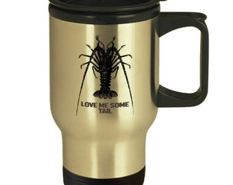 Perfect Scuba Diving Gift - Funny Scuba Diving Lobster Tail Travel Cup - Mug for Scuba Diver - 14 oz Insulated Travel Mug