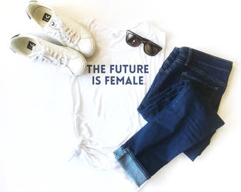 The Future Is Female, Muscle Tank, Feminist Top, Graphic Muscle Tee, Trendy Tank, Fitness, Yoga Tank, Women Rights, Equality, Love, LGBTQ