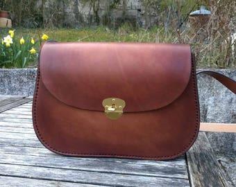 "Large ""Baze"" leather bag"