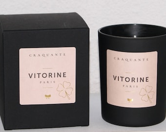 "Scented candle ""CRAQUANTE"" - VITORINE Paris / Scented candle / Organic soy wax / Made in France"