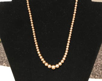 Vintage Faux Pearls with Sterling Clasp