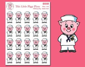Sailor Planner Stickers - Sailor Suit Stickers -Sailor Uniform -Military Stickers -Military Uniform -Military Planner Stickers- [Misc. 1-82]