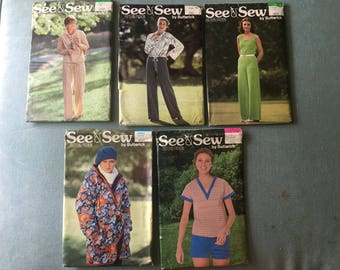 Pick Which One! UNCUT Butterick See & Sew Patterns - Butterick 6165 Butterick 5805 Butterick 6002 Butterick 6063 Butterick 6227