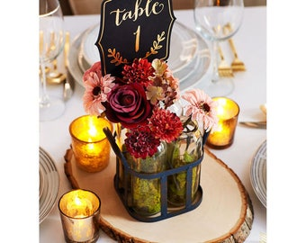 Fall Floral Bundle Table Number Centerpiece