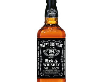 Whiskey Label, Personalized Whiskey Label, Groomsman Label, Birthday Label, Whisky Label Custom, Famous Jack inspired Label Birthday Gift