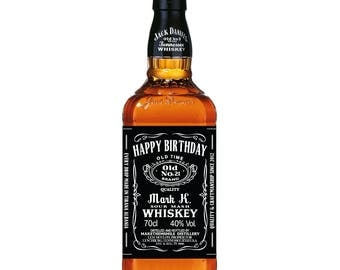 Whiskey Label, Personalized Whiskey Label, Groomsman Label, Birthday Label, Whisky Label Custom, Jack Daniels inspired Label Birthday Gift