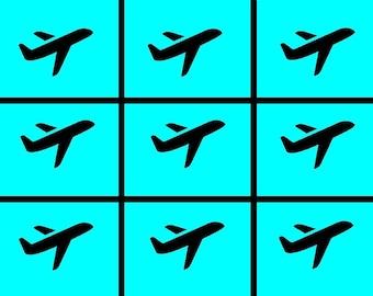Non-Regular Tessellation 772: Climbing Aircraft (# NRT_772_SP)