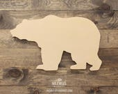 Grizzly Bear Cutout Sign