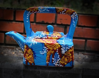 Easter gift Kettle Kitchen Pottery teapot Unusual gift Mother day Ceramic teapot Tea party Gift for couple Teapots decor Multicolor Hostess