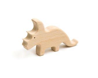 Triceratops   Dinosaur   wooden toy  