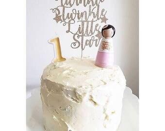 Custom Peg Doll Cake Topper