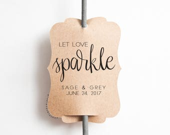 Wedding Sparkler Tag - Set of 20-Sparkler Sleeves, Custom Sparkler Tags, Sparkler Send Off