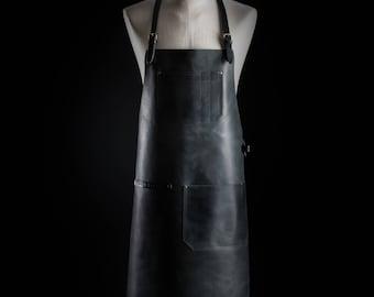 Barista apron by Kruk Garage Bartender apron Work apron Barbers apron Leather apron Mens apron Chef apron Birthday gift FREE PERSONALIZATION