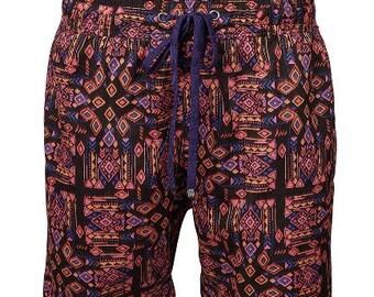 Aztec Mens Swim Shorts. Burning Man & Festival Wear, Original Prints, Made in Australia, Colourful Unique Print