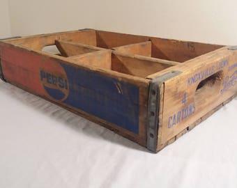 Vintage Pepsi-Cola Wooden Crate