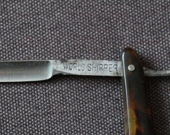 """Straight razor, Vintage straight razor """"WORLD SHIPPER"""""""