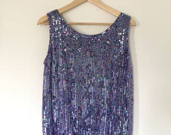 sequin 80s tank top