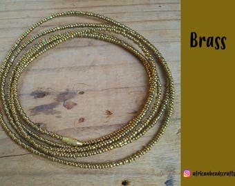 Brass - Waist Beads - Belly Chain - Belly Beads - African Waist Beads
