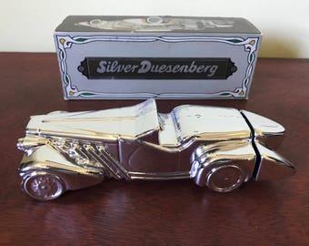 Vintage Avon Silver Duesenberg Decanter