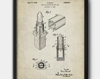 Lipstick · 1952 · Patent · Printable · Vintage · Instant Download #195
