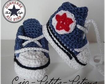 Choose colors crochet sneakers