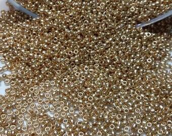 set of 20g ornella Golden seed beads matte