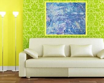Abstract art for your walls,painting,modern art, home art decor, wall art, home decor, abstract painting, acrylic art- Brush Stroke Splatter