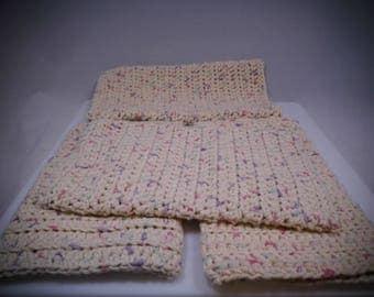 Beige, Crochet Wash Mitt, Crochet Bath Mitt, Crochet Wash Cloth, Knit Wash Mitt, Knit Bath Mitt, Knit Wash Cloth, Bath Accessory, Shower