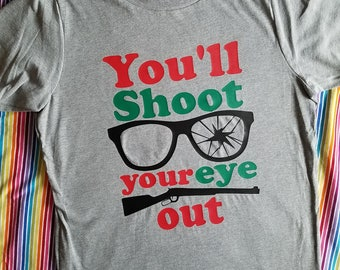 Kids Christmas Shirt - Christmas Story Tee - You'll Shhot Your Eye Out
