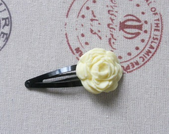 Cream Rose flower Bobby pin