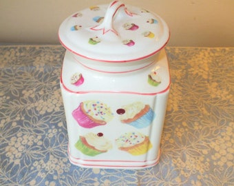 cupcake canisters for kitchen cupcake canister etsy 3365
