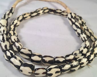 Natural Bone Beads from Africa I African Trade Beads I Trade Beads I Venatian Antique Beads