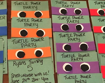 Teenage Mutant Ninja Turtle 3-D invitations