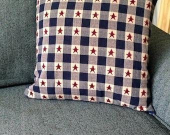 Americana, Country, Primitive, primitive star, Handmade Pillow slip cover, pillow case