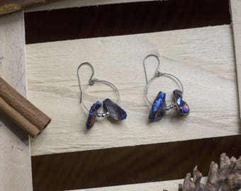 "cute pair of earrings ""crystal"" witch - pagan - Crystal - magical - esoteric - Gothic - witchcraft - fairy"