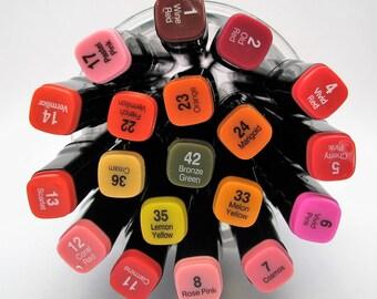 Marqueurs professionnel - art - dessin - feutres alcool - designer - 1 à 49