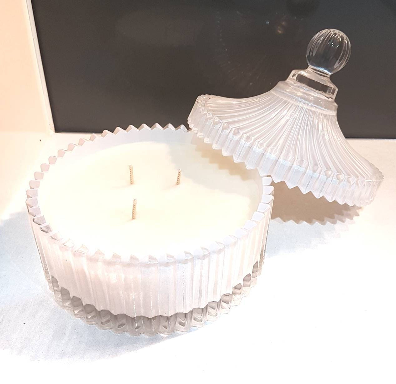 White Trinket Candle / Carousel candle / Gift for her / Last Minute ...