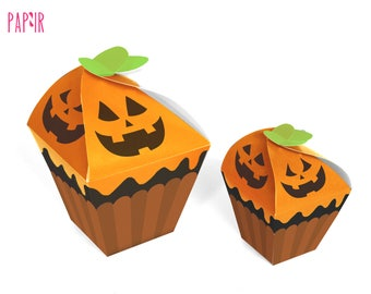 Printable - Halloween Cupcake box - perfect for treats or party favors!