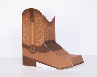 Cowboy Boot Box | kids cowboy birthday, cowboy party favors, cowboy party decoration, cowboy birthday, cowboy boots, western birthday