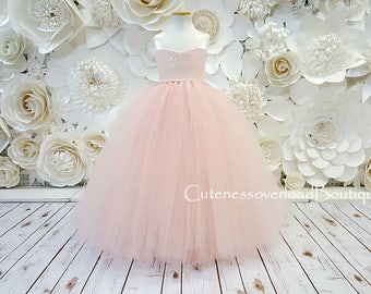 Blush Wedding Tutu Dress-Blush Dress-Blush Tutu Dress-Blush Flower Girl Tutu Dress-Blush Bride Dress-Blush Tutu-Blush Birthday Tutu.