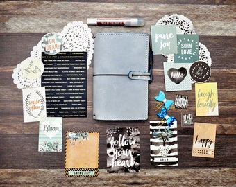 Black Friday Special Travelers Notebook Kit - Midori Kit - Personal Size TN Inserts