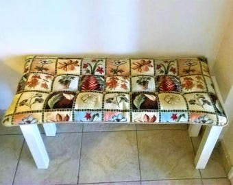 Mixed pattern bench cushion, country home decor, outdoor decor, kitchen bench cushion, many sizes available, patio decor, gift for mom